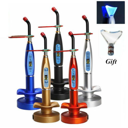 Dental 5W Wireless Cordless LED Curing Light 1500mw with Whitening Tip US STOCK
