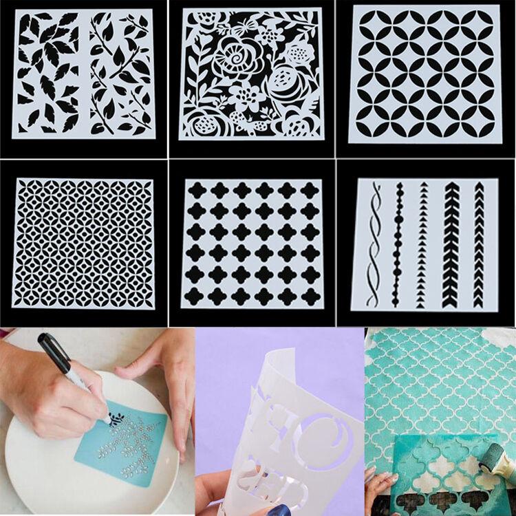 reusable stencil template airbrush painting arts scrapbookin