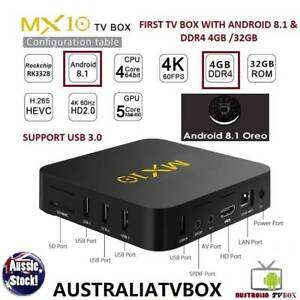 1ST TV BOX with Latest Android 8.1 Oreo M1X10 RK3328 DDR4 4GB 32G Doveton Casey Area Preview