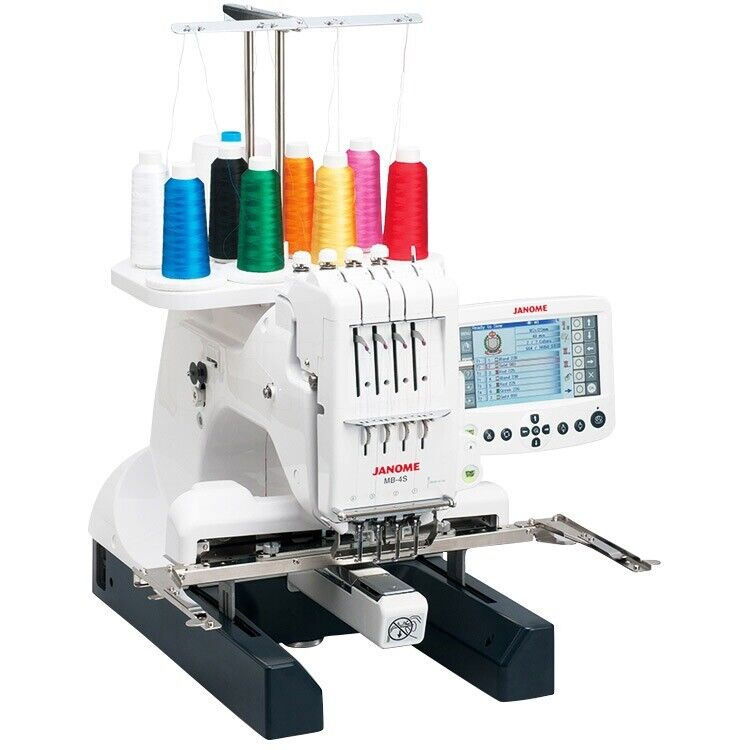 Janome MB-4S Four-Needle Embroidery Machine - Plus Lettering Hoops