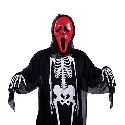 New Unisex Holloween Party Costume - Scary Ghost Skull Skeleton + - Holloween Kostüm Party