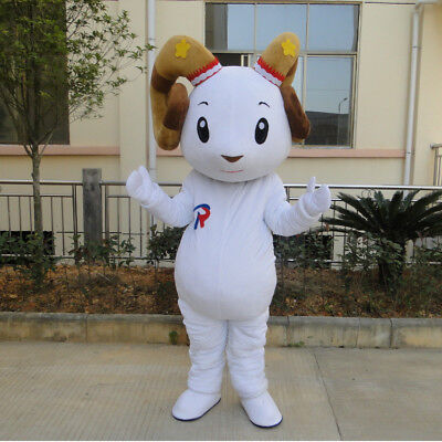 Advertising Sheep Mascot Costume Milk Parade Suits Dress Outfit Adult Size Party](Sheep Mascot Costume)