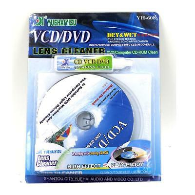 DVD CD Players Laser Lens Cleaner VCD Disc Cleaning Kit Scratch Repair Dry&Wet ()