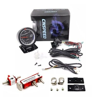"2.5"" Digital LED Turbo Boost Gauge 30PSI Manual Adjustable Boost Controller Kit"