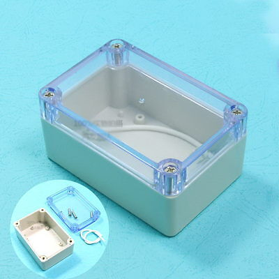 Plastic Waterproof Cover Clear Electronic Project Box Enclosure Case 10x6.8x5cm