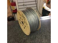 New Galvanised 4mm Steel Wire Rope 200metres 7x7