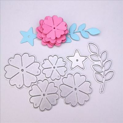 Cutting die Flower star leaf Cutter Knife Mold for Paper Card Crafts DIY -