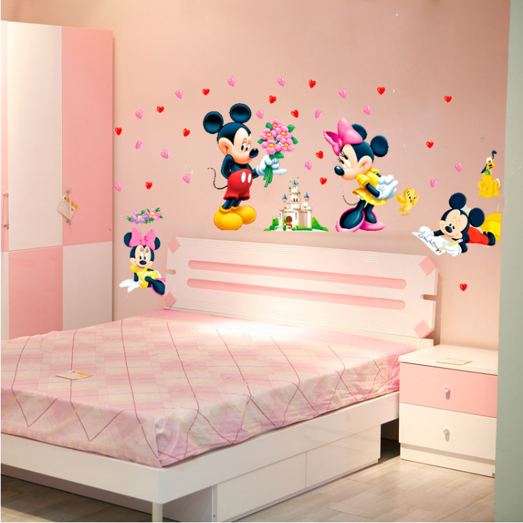Details about Disney Mickey Minnie Mouse Wall Stickers Decal Removable Kids  Art Nursery Decor