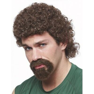 Costume Goatee (80'S CURLY AFRO MULLET KENNY POWERS EASTBOUND DOWN COSTUME WIG & GOATEE BEARD)