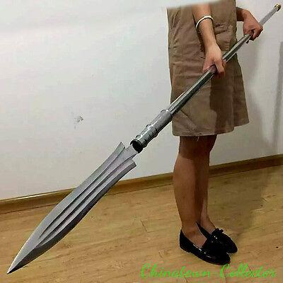ZhaoYun Overlord gun spear Hand Forged High manganese steel blade sharp #0021