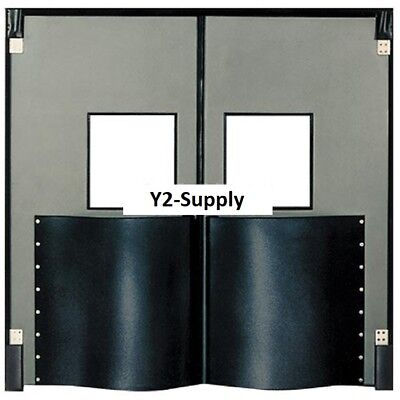 New Chase Doors Extra Hd Double Panel Traffic Door 5w X 7h Metallic Gray