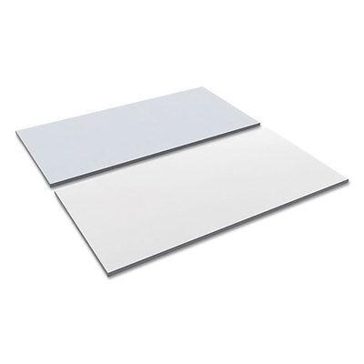 Alera Reversible Laminate Table Top Rectangular 59 12w X 29 12d Whitegray