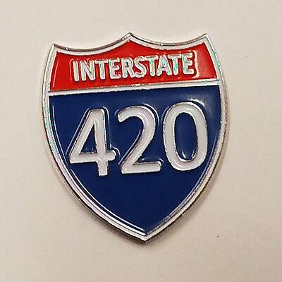 INTERSTATE 420 - HAT PIN - BRAND NEW - MARIJUANA POT WEED HP420