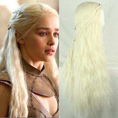 Daenerys Targaryen Khaleesi Game Of Thrones Cosplay Wig Long Curly Wavy Hair
