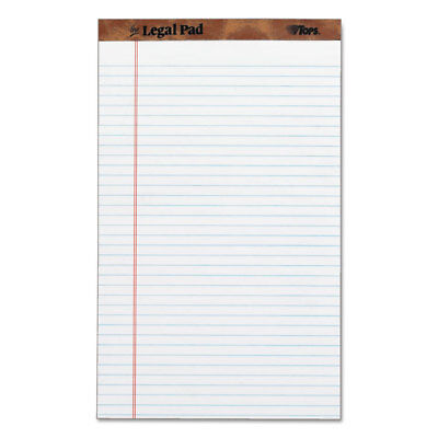 Tops The Legal Pad Ruled Perforated Pads 8 12 X 14 White 50 Sheets Dozen 7573