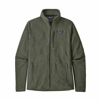 Patagonia Better Sweater 1/4 Zip Casual Jacket (Men's Large) Carbon/Green -