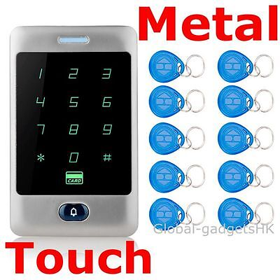 Heavy Duty Metal 125KHz RFID Card Password Door Access Controller+10 ID Keyfobs