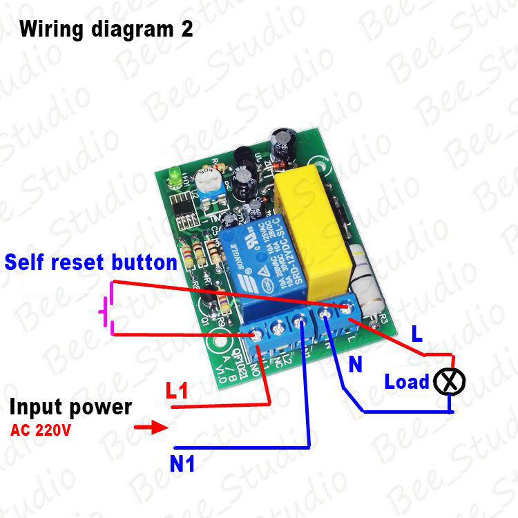 ac 220v delay timing timer time counter switch delay turn ... 110v relay diagram #14