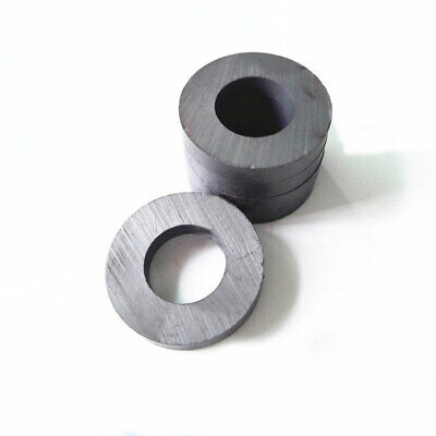 Lots 36mmx6mm Hole18mm Black Strong Round Disc Magnet Ferrite Y30bh Magnets