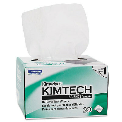 Kimtech Wipers - Kimtech* KIMWIPES Delicate Task Wipers 4 2/5 x 8 2/5 280/Box 34155