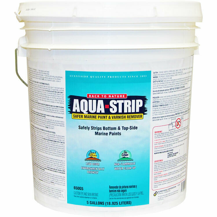 Back to Nature Aqua Strip Safer Marine Paint and Varnish Remover 5-gallon