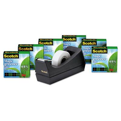 Scotch Magic Greener Tape With C38 Dispenser 34 X 900 6pack 8126pc38