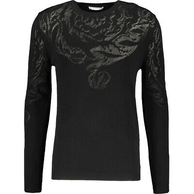 VERSACE COLLECTION Gents Black Long Sleeve Jumper Size Large BNWT