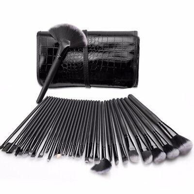 Make Up Brushes Set 32 Pcs Kabuki Cosmetic Brush Full Size Handle Great Quality