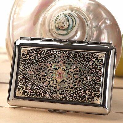 Mother of Pearl Metal Cigarette Tobacco Holder Credit Card Case Storage Wallet Credit Card Cigarette Case Wallet