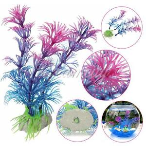 NEW Aquarium Artificial Plastic Grass Fish Tank Ornament Water Plant Decoration