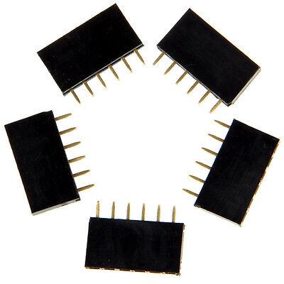 5pcs 2.54mm 6pin Smd Female Header Pin Header Arduino Board Soldering And Pcb