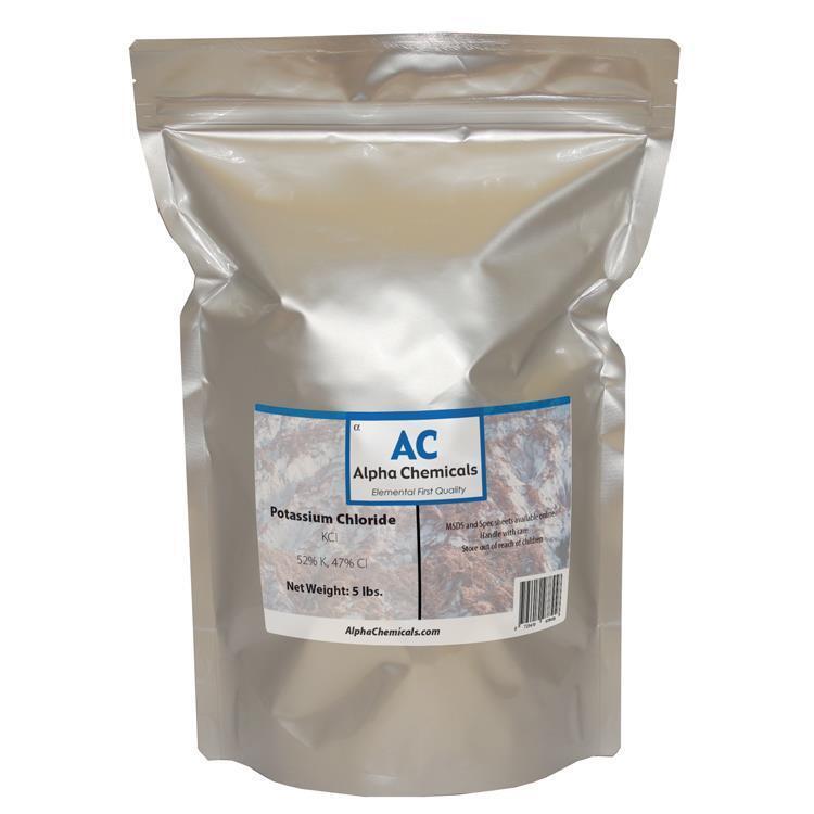 Potassium Chloride - KCl - 5 Pounds -  99%+ Pure