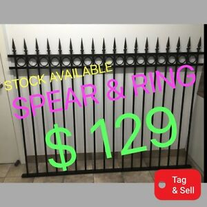 IN STOCK NOW !!!HEAVY DUTY STEEL FENCE PANEL, SPEAR & RING, Salisbury South Salisbury Area Preview