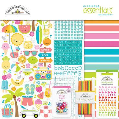 Doodlebug Design Sweet Summer Collection Page Kit 6001 Scrapbook 2018 Doodlebug Design Page Kit