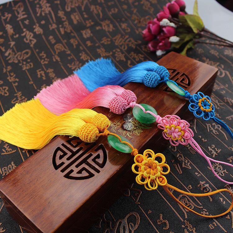 33cm Handmade Chinese Knot Wish Lucky Charm Car Bag Wall Door Hanging Gift DIY