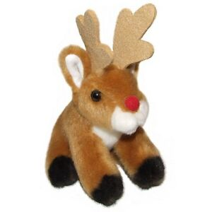 13cm-Red-Nosed-Reindeer-Plush-Cuddly-Soft-Toy-Christmas-Stocking-Filler