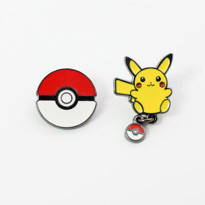 Lovely Cartoon Anime Pikachu Game Ball Elf Ball Pokemon Brooch Badge Pins Gifts - Female Pikachu Anime
