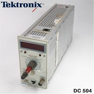 Tektronix Dc 504 Countertimer Plug-in Module For Oscilloscope