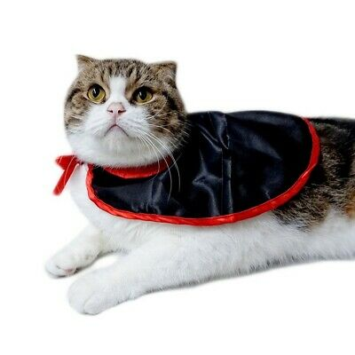 Pets Dog Halloween Dracula Vampire Cape Custome Cat Puppy Party Clothes Outfit