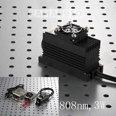 808nm 3w 3000mw Ir Laser Dot Modulettlanalog 0-30khztec Cooling85-265v Power