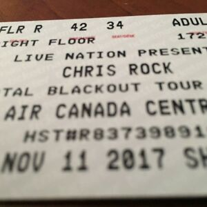 Chris Rock Origional Floor Tickets