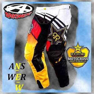 MX Rockstar Pants, Answer Brand New! VENTED For Motorcross Browns Plains Logan Area Preview