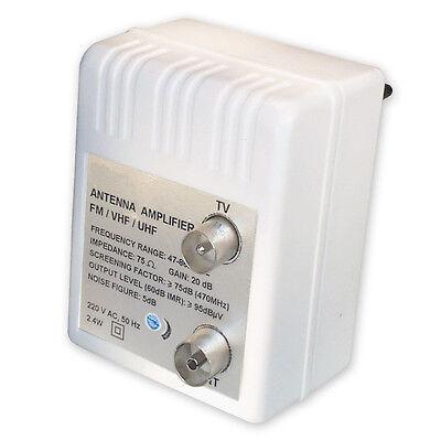 Antennen Verstärker für Kabel TV + DVBT + Verstärkung: 20 dB regelbar: 0-10 dB