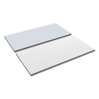 Alera Reversible Laminate Table Top, Rectangular, 47 5/8w x 23 5/8d, White/Gray (White Table Top)
