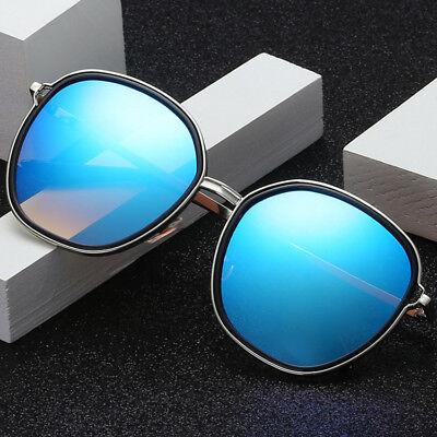 LE Unisex Korean Big Round Sunglasses Mirror Coating UV400 Sun Glasses Top (Korean Sunglasses Brand)