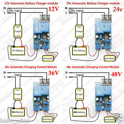 Automatic Battery Charger Protection Controller Charging Module Board Switch 30a