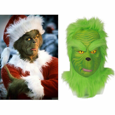 Grinch Cosplay Helmet How the Grinch Stole Christmas Xmas Halloween Costume Prop
