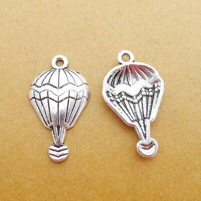 - 10pcs Romantic Hot Air Balloon Charms Tibetan Silver Beads Pendant DIY 17*29mm
