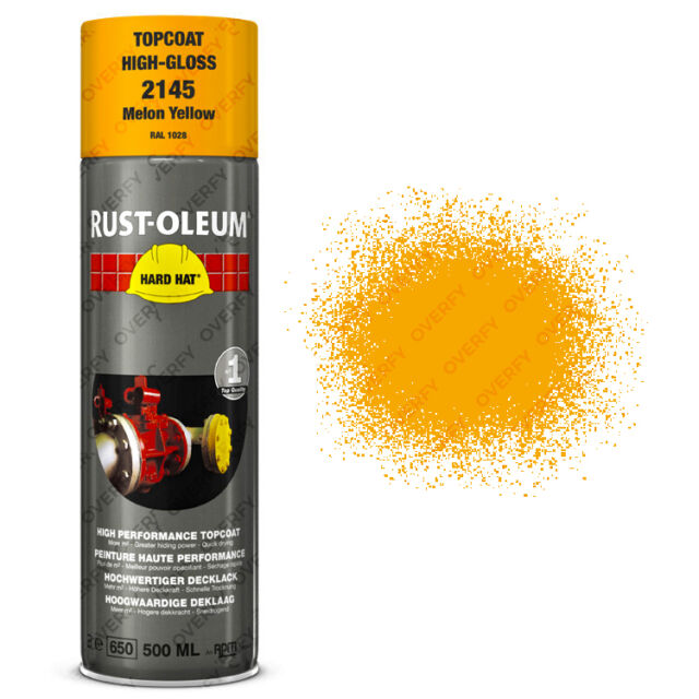 x1 Ultra-High Coverage Rust-Oleum Melon Yellow Spray Paint Hard Hat RAL 1028