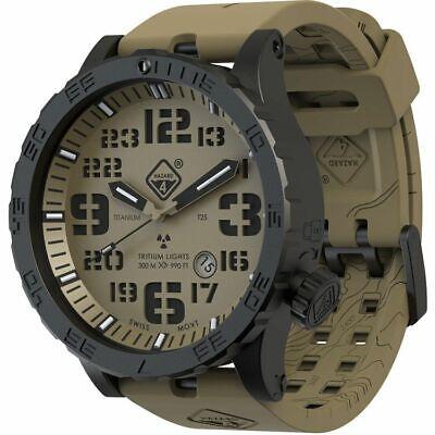 Hazard 4 Heavy Water Diver, 50mm Black Titanium Watch with : HWD-TIPV-EK-GGYG